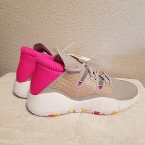 Adidas Pro Vision Basketball Shoes Grey White Pink